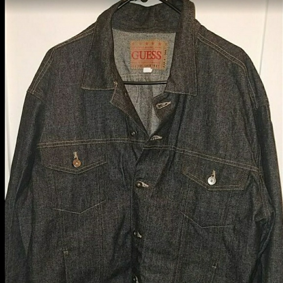 Guess Jackets Coats Vintage Denim Jacket Men Poshmark